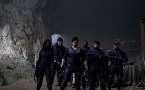 Picture Maggie, Sylvester Stallone, Randy Couture, Randy Couture, Jason Statham, Sylvester Stallone, Jason Statham, The Expendables …