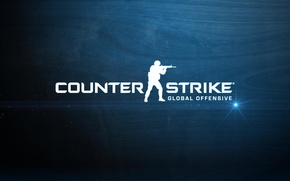 Picture game, counter-strike, blue background, global offensive, cs go