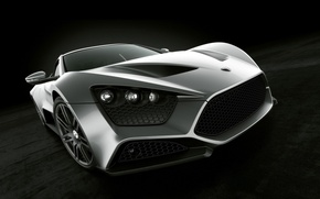 Picture silver, sports car, ST1, Zenvo