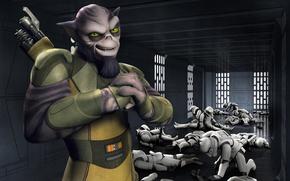 Picture animated series, Star Wars Rebels, Star wars Rebels, Zeb, Zeb