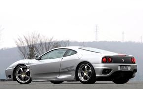 Picture silver, rear view, 360, Modena, ferrari 360, modena