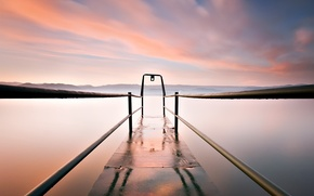 Picture clouds, lake, excerpt, pier, 155