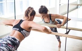 Wallpaper fitness, mirror, workout