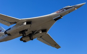 Picture the sky, Wallpaper, The plane, The TU-160