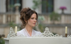 Picture candles, Kate Beckinsale, Kate Beckinsale, bokeh, Abode of the damned, Eliza Graves
