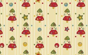 Picture mood, holiday, texture, New year, herringbone, Zvezdochka