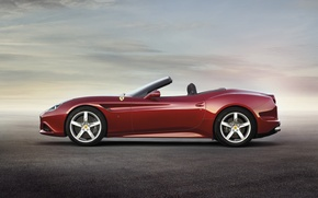 Picture Red, Ferrari, Ferrari, California T, California T, Side View