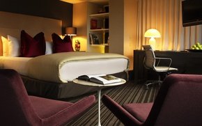 Picture design, style, room, bed, interior, chair, apartment