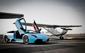 Picture the plane, lamborghini, murcielago, Lamborghini, WFP, Murcielago