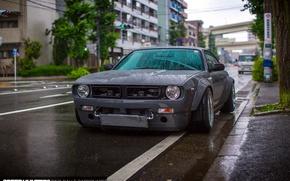 Picture wet, car, drops, the city, rain, street, Japan, nissan, tuning, silvia, Boss, S14, Rocket Bunny, …