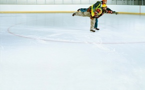 Picture humor, Ice, working, skaters