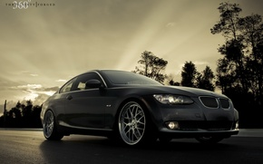 Picture high resolution, 360 forged, BMW 335i, black bmw coupe, Beha on the desktop