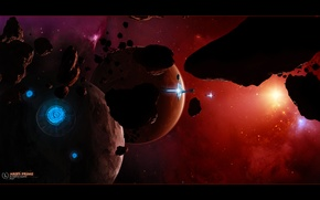 Picture space, planet, art, space, universe, stars, spaceships, planet