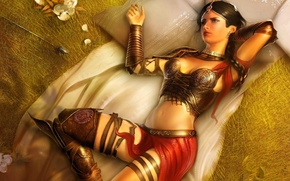 Wallpaper flowers, room, Archer, the game, Princess, arrows, Headlight, the city, Prince of Persia: The Two ...