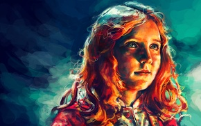 Picture look, face, sweetheart, figure, art, girl, red, red hair, Doctor Who, Doctor Who, Amy, Amelia, …