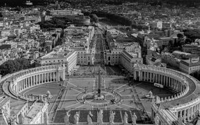 Picture Rome, Italy, panorama, The Vatican, St. Peter's square