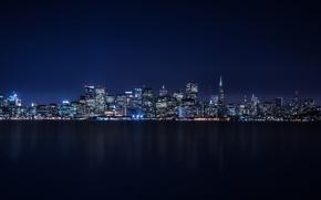 Picture City, Skyline, Island, Bay, Architecture, San-Francisco, Ligth, Nigth, Treasure