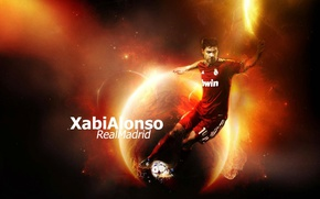 Picture wallpaper, sport, football, player, Xabi Alonso, Real Madrid CF