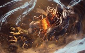 Wallpaper Heroes of the Storm, Orc, Archangel of Wisdom, Diablo, Thrall, Diablo III: Reaper of Souls, ...