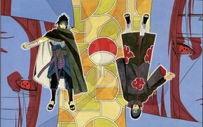 Picture eyes, cloak, brothers, Naruto, gesture, art, akatsuki, sharingan, ninjutsu, Sasuke Uchiha, clan, Naruto shippuuden, itachi …