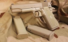 Wallpaper gun, pistol, weapon, Para Ordnance, .45, .45 ACP, extra boots, Single Action, camouflage fabric, 1O ...