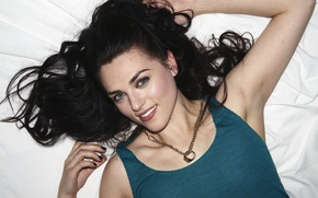 Picture look, girl, pose, smile, actress, hair, Katie McGrath, Katie McGrath