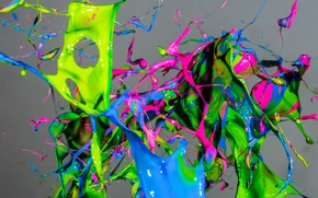 Wallpaper macro, squirt, paint, colorful