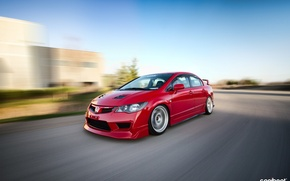 Picture red, honda, jdm, tuning, civic, speed, low, acura, action, stance, mugen, type r, vtec