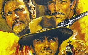 Wallpaper three, one, Director, his, Good, the film, Western, men, roles, Clint Eastwood, style., each, Lee ...