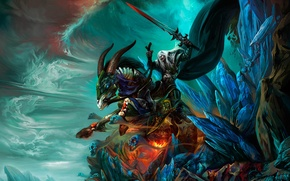 Wallpaper Chen Wei, sword, mountains, warrior, CHINA, rider, soul