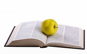 Picture green, apple, white, food, words, book, reading, degree, teacher, smart, novel, library, read, healthy, isolated, …