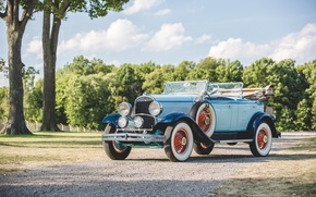 Picture Chrysler, Retro, Blue, Car, Series, 1929, Phaeton, 75, Barrel