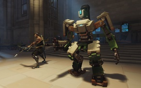 Picture Overwatch, Bastion, Hanzo's