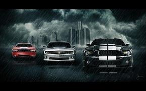 Wallpaper ford, chevrolet, dodge, car's