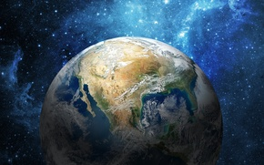 Picture space, stars, earth, the universe, planet