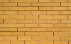 Picture wall, yellow, pattern, brick