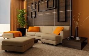 Picture room, plant, Interior