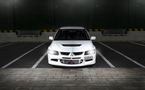 Picture white, before, Mitsubishi, white, Evo, Mitsubishi, evolution