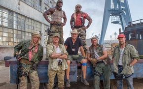 Picture Sylvester Stallone, Randy Couture, Jason Statham, Terry Crews, Dolph Lundgren, Wesley Snipes, The Expendables 3, ...