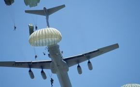 Wallpaper the plane, C-141B, landing, jump, military