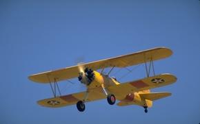 Picture the sky, retro, flight, the plane, biplane