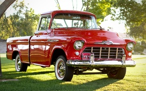 Picture Chevrolet, classic, Chevy, the front, 1956, 3100