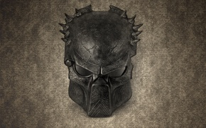 Picture the dark background, predator, mask, predator