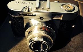 Picture macro, background, camera, Voigtlander Vito B