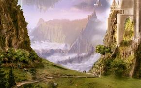 Wallpaper figure, greens, landscapes