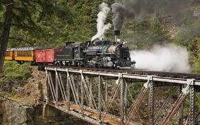 Wallpaper bridge, Colorado, the engine
