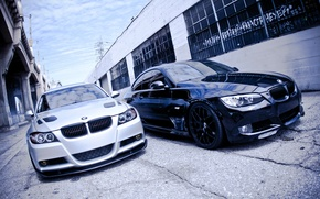 Picture white, BMW, 3Series, two brothers, black