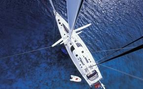 Picture sea, yacht, sailing ship, mast