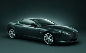 Wallpaper DB9, graphite, Aston Martin