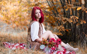 Picture autumn, girl, nature